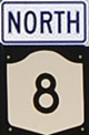 NY 8 North Sign