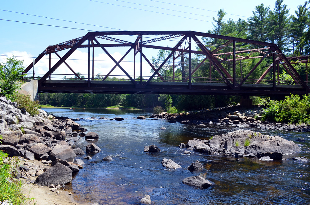 Route 8 Goes Over the Schroon River in Brant Lake